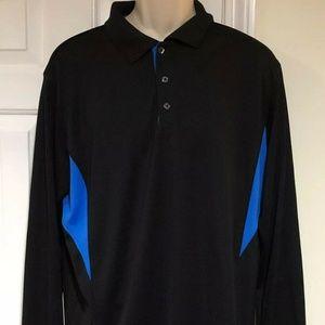 Fila Sport Golf Mens Large Long Sleeve Polo